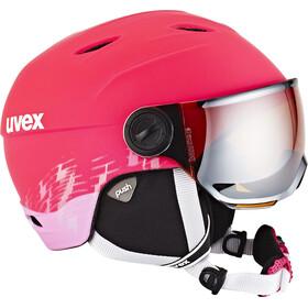 UVEX Junior Visor Pro Casco de bicicleta Niños, Pink Mat